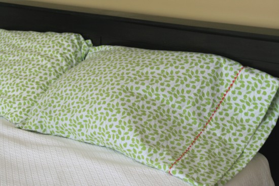 handmade rick rack pillowcases