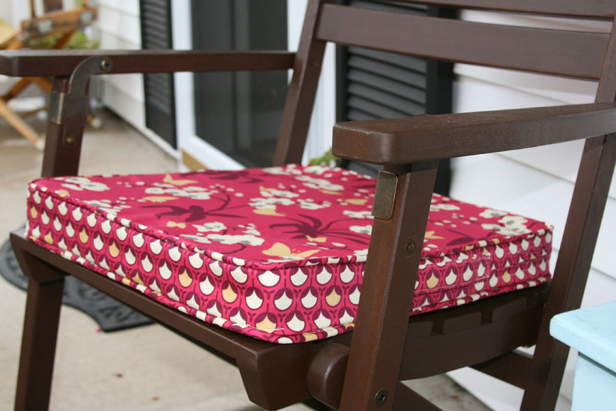 No Sew Rocking Chair Cushions
