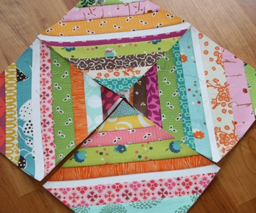 FITF: Kaleidoscope – a colorful string quilt   Film in the Fridge : string quilt tutorial - Adamdwight.com