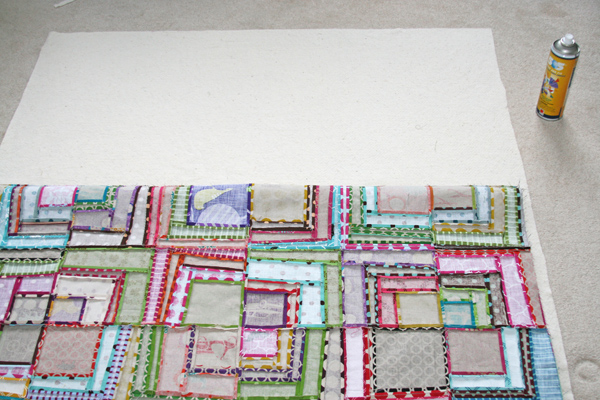 FITF: spray adhesive for quilt basting – a quick how to