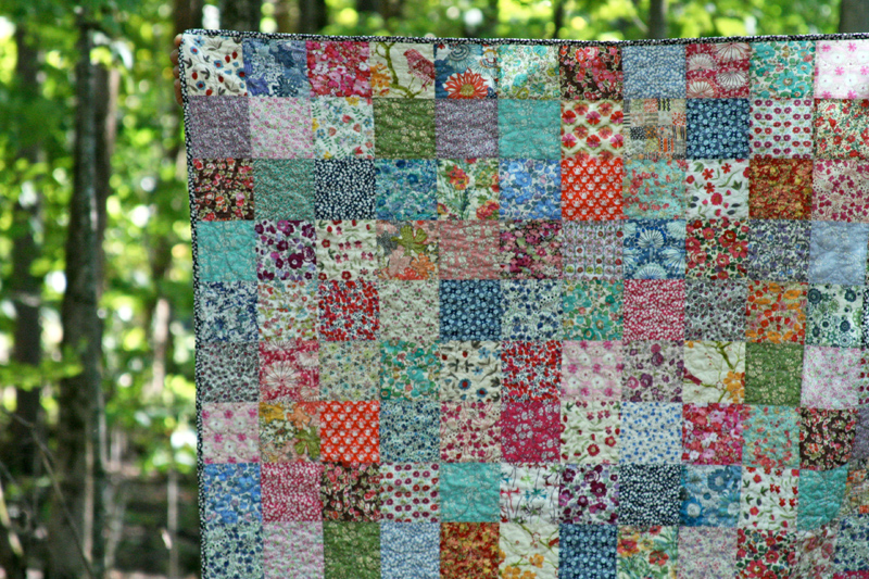 FITF: ah, a Liberty throw! | Film in the Fridge : patchwork quilt squares - Adamdwight.com
